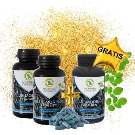 2+1 Blue Moringa for Men